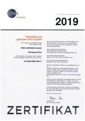 GS1 Zertifikat MWK 2019 dt